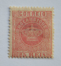 Mozambique 1876 25 Reis Rose. MH.