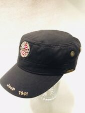 Official Jeep Military ArmyHat Cap 1941 American Brass Trim Vents Strapback EUC