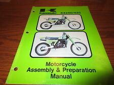 1980 80 Kawasaki KX250 420 Factory Assembly & Prep Manual 99964-0112-01 SW41K