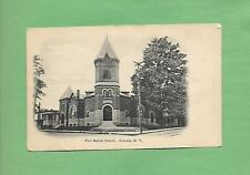 FIRST BAPTIST In ONEONTA, NY On Vintage 110 Year-Old Unused Postcard