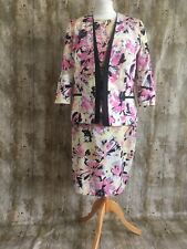 Limited Collection Yellow Floral Peplum Dress Matching Jacket Size 14 Wedding