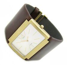 Calvin Klein Gold Sapphire Damen Armbanduhr K59112.26 Edelstahl leder 5ATM B neu