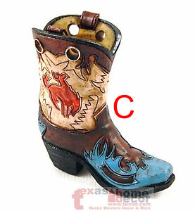 Mini Cowboy Boot Vase Pen Toothpick Holder Rodeo Cowgirl Gift Assorted Styles