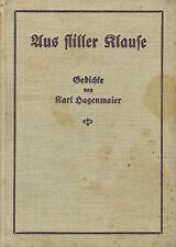 De silencieux Klause, poèmes de Karl Hagen Maier, M longue dédicace, Bader 1927