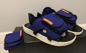 Men's Jordan LS Slide Sandals Deep Royal Blue/Turf Orange/Racer Blue SIZE 13