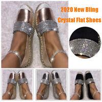 Women Fashion Flat Bottom Hot Drill Recreational Shallow Single Works Shoes