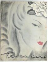 1950's Vintage WINE & COCKTAILS List Menu EL CORTEZ HOTEL TROCADERO Reno Nevada