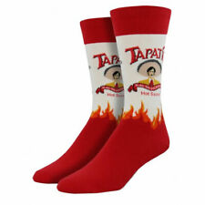 Socksmith Men's Crew Socks Tapatio Hot Sauce Novelty Footwear Cool Foot Apparel