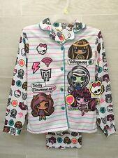 Monster High Minis Girls Sleepwear Set Soft Pajamas 10-12