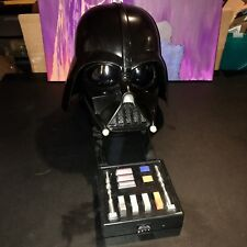 2004 Star Wars Darth Vader Electronic Voice Changer Talking Mask and Helmet