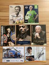 7 AK Autogrammkarten original signiert Konvolut Sport Sportler Sportlerinnen