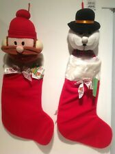 Vintage Rudolph and the Island of Misfit Toys 1999 Christmas Stockings With Tags