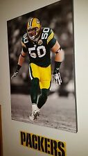 "AJ Hawk Green Bay Packers Rookie ONE OF A KIND MAN CAVE Canvas Picture 24""X 35"""