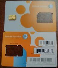 NEW  AT&T REPAID 4G NANO SIM (CUT) FOR IPHONE 5/8/X/IPAD MINI & UP. SK73057/3057