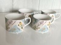 Set Of 4 Royal Doulton Everyday Wildflowers Coffee Tea Cups 1996
