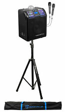 Vocopro Lightshow Rechargeable Bluetooth Karaoke Machine System+Stand+(2) Mics