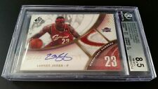 LEBRON JAMES 2005-06 SIGNIFICANT NUMBERS ON CARD AUTO - SICK GAME-USED PATCH /5