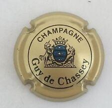 capsule champagne DE CHASSEY guy n°6 or noir et bleu