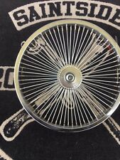 "Lowrider Dragster Bicycle Bike 16"" 72 Spoke Chrome Rear Coaster"