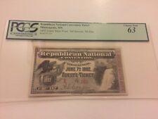 1892 Republican National Convention Ticket President Benjamin Harrison PCGS 63