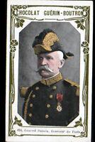 IMAGE CHOCOLAT GUERIN BOUTRON / MILITAIRE GENERAL DUBOIS GOUVERNEUR de PARIS