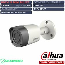 TELECAMERA MINI BULLET DAHUA HFW1000RP HD-CVI 720P 3.6mm IR LED OSD UTC IP67