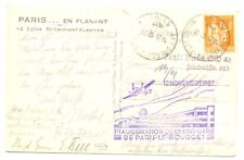 FRANCE 1937- SPEC FLIGHT CARD -LE BOURGET - VF