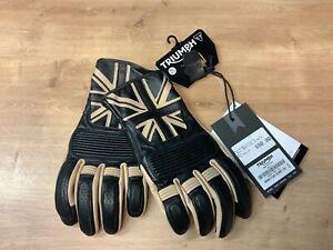 Triumph Mono Flag Motorcycle Gloves Size XL MGVS17304-XL
