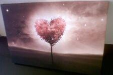 LOVE HEART ROMANTIC LANDSCAPE - WALL ART CANVAS - Ready To Hang. Framed.