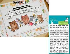 Lawn Fawn PLAN ON IT: SCHOOL Clear Stamps Set LF2040 Student Planner Agenda