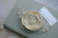 Bridal Headpiece Champagne Hair flower Wedding Hair Piece Bridesmaid Hair clip