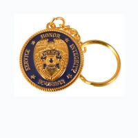 Police Prayer Key Chain Blue and Gold Deluxe Key Tag