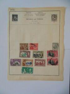 PA 385 - Page Of Mixed Trinidad & Tobago Stamps