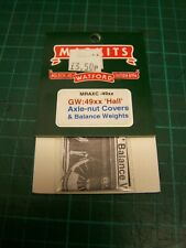 4mm Markits Balance Weights & Axle-Nut Covers For GWR 49xx Hall class