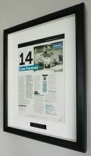 Oasis Framed Original NME Artwork-Certificate-Noel Gallagher-Live Forever