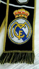 Adidas Real Madrid Knit Scarf Original Black Yellow 100% Acrylic WIth Tag Mens