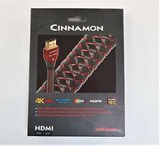 AudioQuest Gold Plated cold-weld HDMI Connectors Cinnamon 1080p 4K HDMI (2.0m)