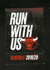 Chicago Bulls--2019-20 Pocket Schedule--United Airlines