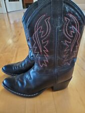 Old West Jama Corporation Boys Kid s Brown Oily Cowboy Boots 13.5 M US Little Kid Brown//Blue
