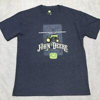 John Deere T-Shirt Blue Tractor Farm Equipment Shirt - Mens XL - NEW