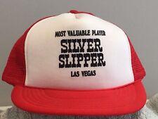 Vintage Silver Slipper Las Vegas Snapback Trucker Cap Preowned Never Worn.