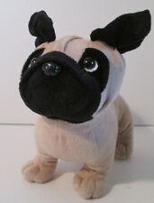 "Animal Adventure Pug Puppy Dog Plush Beige and Black 10"" Woof Street Boutique"