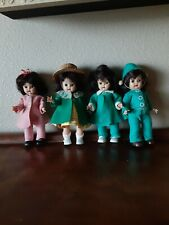 Four Nancy Ann Storybook Dolls, Unmarked, Dressed, Walkers