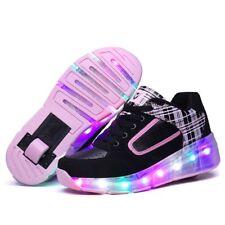 Kids Girls Boys Light Roller Heelys Skate LED Shoes Size UK Flash Jazzy Junior