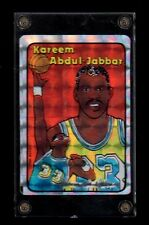 1985 Jewel Prism Lakers UCLA Bruins Kareem Abdul-Jabbar card~5-time NBA Champion