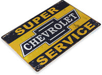 TIN SIGN Chevrolet S-Service Décor Wall Art Garage Auto Shop A289