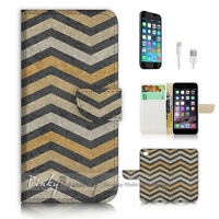 ( For iPhone 6 / 6S ) Wallet Case Cover P2927 Abstract