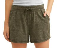 Athletic Works Women's Essential Athleisure Shorts with Pockets grey XL 2XL NL7
