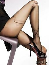 Quality Formal Black Tights Sheer PANTYHOSE with Fine Pattern Stockings