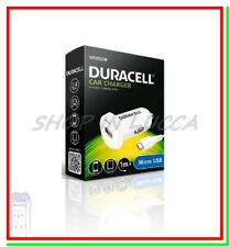 Caricatore Veloce DURACELL Auto Car Accendisigari x Smartphone Tablet USB Bianco